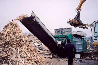 wood shredder machine